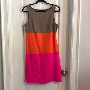 Vibrant Color Block Dress by Cynthia Rowley